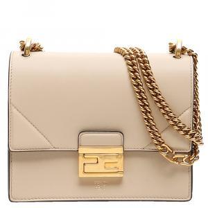 Fendi Pink Leather Small Kan U Shoulder Bag