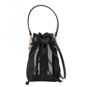 Fendi Black Leather Mon Tresor Bag