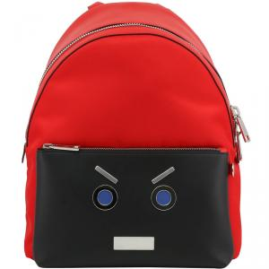 Fendi Two Tone Leather Backpack