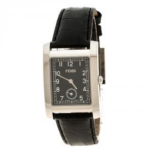 Fendi Black Stainless Steel Women's Wristwatch 27 mm