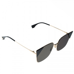 Fendi Gold Plated/ Black FF0191/S Cat Eye Sunglasses