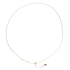 Fendi Gold Tone Long Chain Necklace