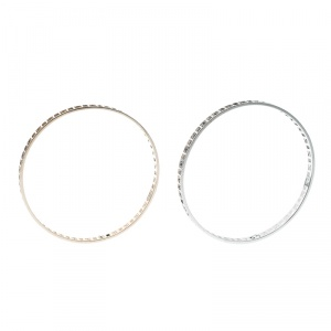 ‏Fendi FF Logo Bicolor Gold Tone/Silver Tone Bangle Set