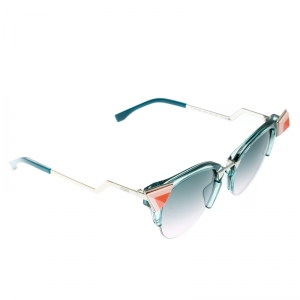 Fendi Sea Green / Bicolor Gradient FF 0041/N/S Cat Eye Sunglasses