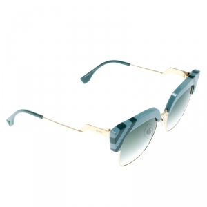Fendi Azure Blue/ Green Gradient FF 0241/S Waves Square Sunglasses