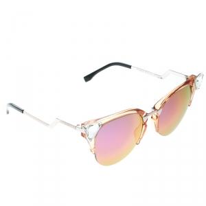 Fendi Honey Brown / Holographic Mirrored FF 0041/S Iridia Cat Eye Sunglasses