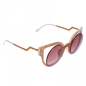 Fendi Copper Tone /Purple Gradient FF 0137/S Shimmer Paradeyes Sunglasses