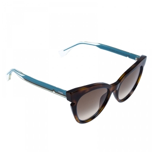 Fendi Dark Havana/ Brown Gradient  FF 0132/S Cat Eye Sunglasses