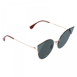 Fendi Rose Gold Tone/ Green FF0190/S Iridia Cateye Sunglasses
