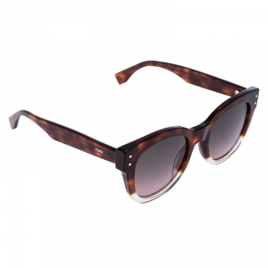 Fendi Brown Havana/ Bicolor Gradient FF0239/S Cat Eye Sunglasses