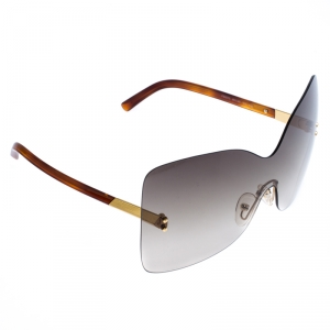Fendi Brown/Green Gradient Runway Rimless Sunglasses