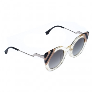 Fendi Clear Stripes/Black FF 0240/S Cateye Sunglasses
