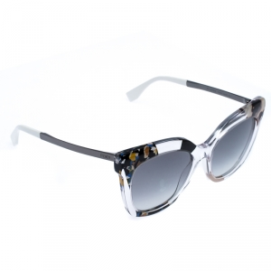 Fendi Clear Jungle/Dark Gradient FF 0179/S Cateye Sunglasses