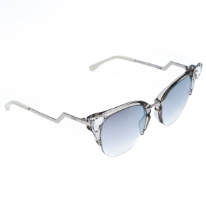 Fendi Silver Tone/ Grey Gradient FF 0041/S Iridia Cat Eye Sunglasses