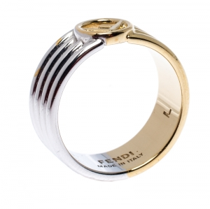 Fendi F is Fendi Two Tone Band Ring Size 58