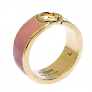 Fendi F is Fendi Bicolor Enamel Gold Tone Ring L