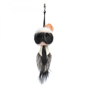 Fendi Multicolor Fur and Leather Karlito Bag Charm