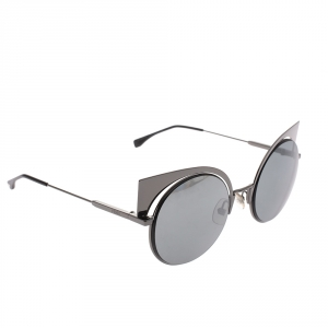 Fendi Gunmetal Black Mirror FF 0177/S Sunglasses
