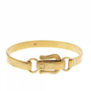 Fendi FF Gold Tone Hook Bracelet
