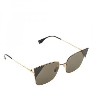 Fendi Gold/Black Mirror Lei Aviators Sunglasses