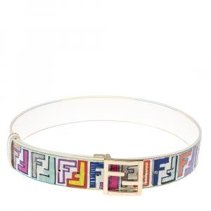 حزام فندي شعار أف أف كانفاس مقوى زوكا متعدد الألوان 80 سم