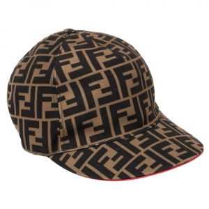 Fendi Brown Canvas Fendirama Baseball Cap (One Size)