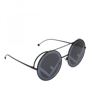 نظارة شمسية فندي FF 0285/S رصاصي/سوداء مستديرة