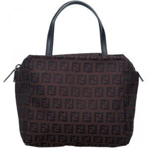 Fendi Brown Zucchino Canvas Everyday Bag