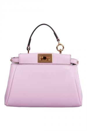 Fendi Pink Leather Micro Peekaboo Crossbody Bag
