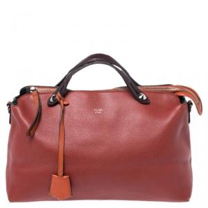 Fendi Rust/Maroon Leather Medium By The Way Boston Bag