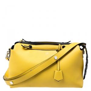 Fendi Yellow Leather Medium By The Way Boston Bag