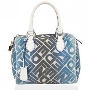 Fendi Forever Blue and White Boston Bag