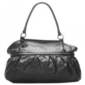 Fendi Black Leather Chef Tote Bag