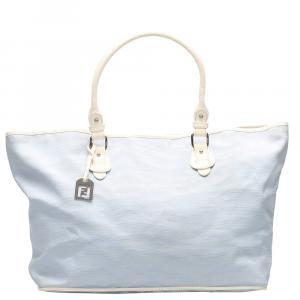Fendi Blue Tiger Print Tote Bag