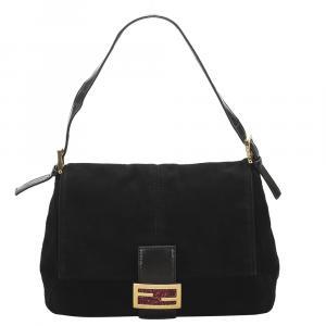 Fendi Black Suede Mama Forever Bag