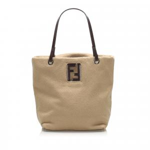 Fendi Brown Felt Tote Bag