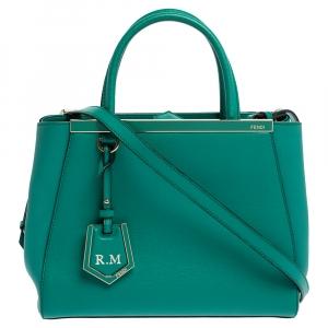 Fendi Green Leather Mini 2Jours Tote