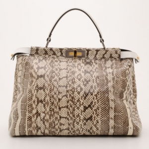 Fendi Watersnake Peekaboo Satchel