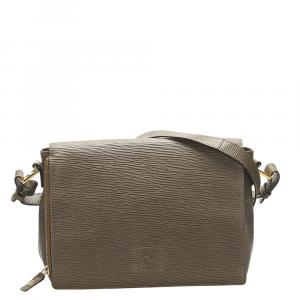 Fendi Brown Leather Crossbody Bag