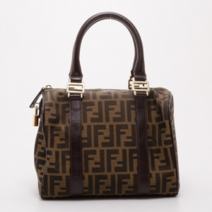 Fendi Jacquard Zucca Boston Bag
