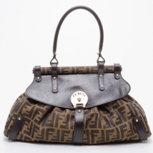 Fendi Zucca Magic Medium Satchel Handbag
