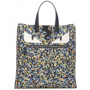Fendi Multicolor Nylon Monster Eyes Tote Bag