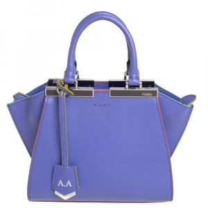 Fendi Lavender Leather Mini 3Jours Tote
