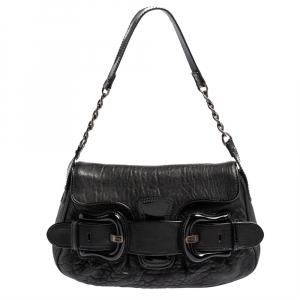 Fendi Black Patent and Leather B Bis Shoulder Bag