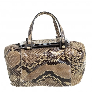 Fendi Beige Python To You Satchel