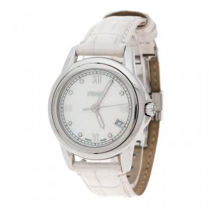 Fendi White Mother of Pearl Stainless Steel Selleria Women's Wristwatch 37 mm