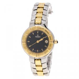 Fendi Black Two Tone Stainless Steel 900L Women's Wristwatch 26 mm