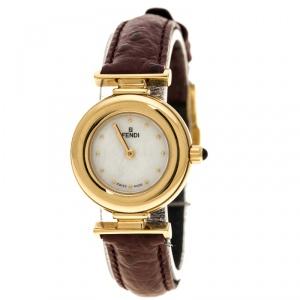 Fendi White Mother of Pearl 320L Women's Wristwatch 23 mm