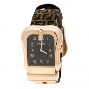 Fendi Black Zucca Canvas B. Fendi Women's Wristwatch 33 mm