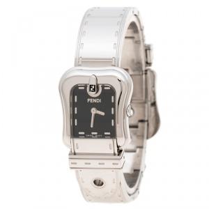 Fendi Black Stainless Steel B.Fendi 3800L Women's Wristwatch 23 mm